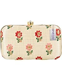 Parizaat By Shadab Khan Women's Clutch (cream,bx74BFP)