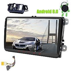 9 pulgadas Android 8.0 Doble 2Din Head Unit para VW Estéreo Golf Jetta Passat Polo En el tablero Receptor de radio para automóvil FM AM RDS Canbus 4 Core Navegación GPS Radio Estéreo Cámara de reserva