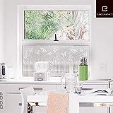 posterdepot Fenstersticker Milchglas-Sichtschutz Wiese - Schmetterlinge und Gras - Größe 35 x 98 cm - 1-teilig