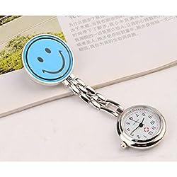 PromiseU Medical Nurse Pocket Watch Quartz Movement Brooch Pendant Fob Pocket Watch