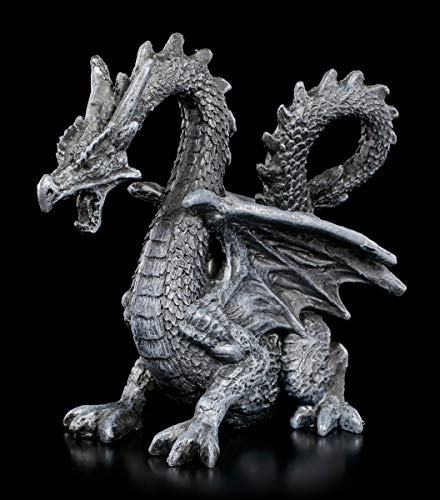 Fantasy Drachen Figur - Black Blood | Dekofigur, schwarz, Handbemalt