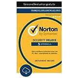 Norton Security Deluxe - 5 Appareils [Abonnement Mensuel Subscription]