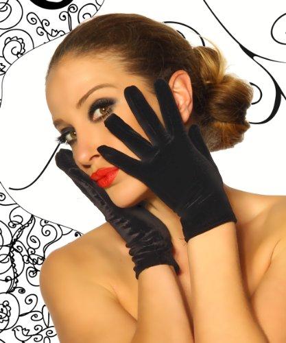 - Velours gants courts Noir - Noir
