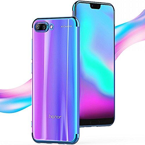Custodia Huawei Honor 10, Voigeer [Non Antiscivolo] [Soft TPU Interior] [Durable PC Exterior] Custodia Protettiva Protettiva Completa per Custodia Protettiva, Custodia Resistente Agli Shock a Doppio Strato per Huawei Honor 10 (Blu)