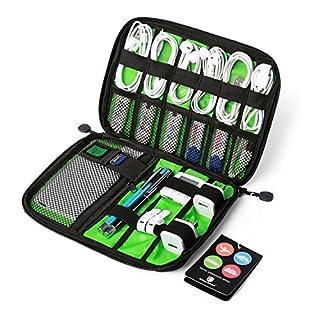BAGSMART Organisateur de Sac pour Accessoires Électroniques Housse de Rangement pour Câbles/Clé USB/Disque Dûr/Cartes Mémoires/Chargeur/Batterie (Noir)