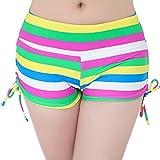 FLYILY Damen Sport Badeshorts Board Shorts(EUR 34-36(Tag S),MutilColor)