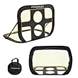 PodiuMax Win Your World Cup 2 in 1 Pop up Soccer Goal, Portable Indoor/Outdoor Soccer Target Net with Carrying Bag, Best for Pickup/Scrimmage Game