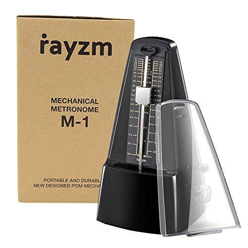 Rayzm metrónomo mecánico con alta precisión para toda clase de instrumentos (piano/batería/violín/guitarra/bajo e instrumentos de viento). Chasquido audible y timbre de campana.