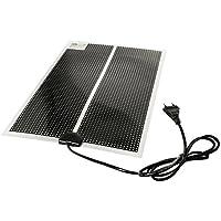Tapis chauffant ou -tapis de chaleur pour terrariums-ultra-plat avec câble d'alimentation de 150 cm avec prise Européenne 230V