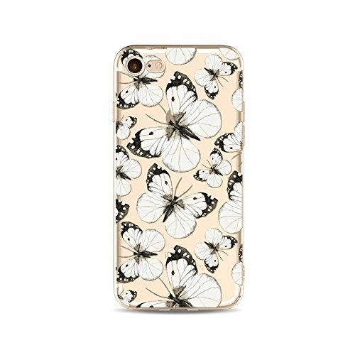 Schutzhülle iPhone 66S Bezug étui-case transparent Liquid Crystal TPU Silikon klar, Schutz Ultra Slim Premium, Schutzhülle Prime für Iphone 66s-le Schmetterling 9