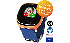 XPLORA 1 - Telefonuhr (Orange) für Kinder, inklusive 12 Monate Telefonie, Internet und XPLORA-Dienste (NUR FÜR KUNDEN IN Deutschland)