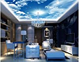 Chlwx 200cmX150cm (78.7inX55.182in) Blue Sky Cloud Decke Hintergrundbilder Für Wohnzimmer Wohnzimmer Tv-Kulisse Schlafzimmer 3D Fototapete