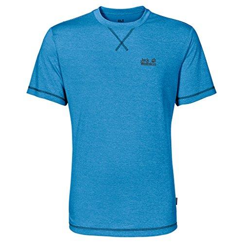 Jack Wolfskin Herren Shirt Crosstrail T Blau