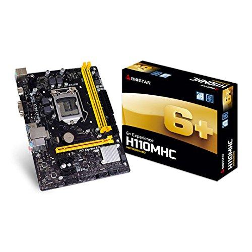 Biostar H110MHC Intel H110 LGA 1151 (Socket H4) Micro ATX Motherboard - Motherboards (DDR4-SDRAM, DIMM, 1866,2133,2400 MHz, Dual, 32 GB, Intel) (Socket Biostar)