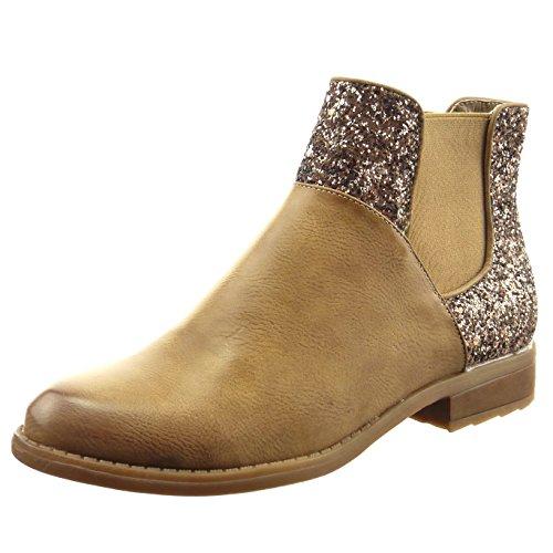 sopily-chaussure-mode-bottine-chelsea-boots-cavalier-montante-femmes-brillant-pailettes-talon-bloc-2