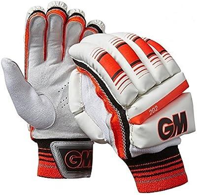 Gunn & Moore 202 Niño Hombre Guantes De Bateo Críquet Blanco / Rojo