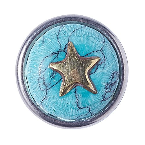 Noosa Petite Chunk APPLE STAR Apple Star turquoise/ brass - stone/ brass