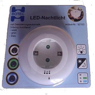 Atlantis-Electronic LED-Nachtlicht mit Dämmerungsautomatik 3-farbig Leuchtend