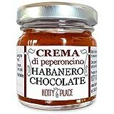 Crema HABANERO CHOCOLATE Peperoncino Piccante MEDIO Molto Aromatico VASO VETRO 30g