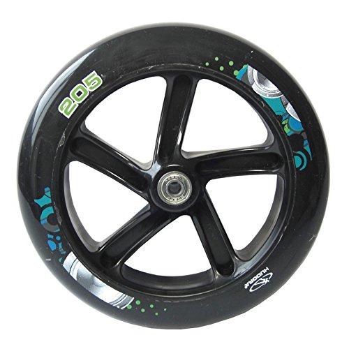 HUDORA Unisex Jugend Big Wheel PU-Rolle, schwarz/Weiss, 205 mm