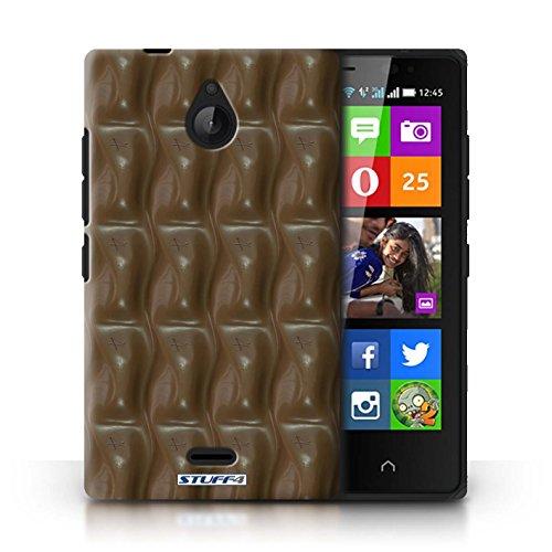 Kobalt® Imprimé Etui / Coque pour Nokia X2 Dual Sim / Mars Bar Enveloppé conception / Série Chocolat Galaxy Vague