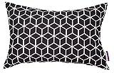 TOM TAILOR 564178 Kissenhülle T-Jumbled Cubes, 30 x 50 cm, Baumwolle, schwarz