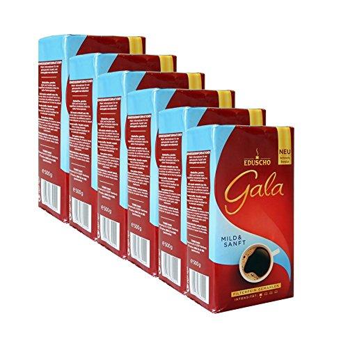 Eduscho Gala Mild & Sanft, 500g gemahlen 6er Pack
