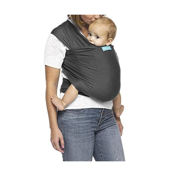 MOBY Evolution Baby Wrap Carrier for Newborn to Toddler up to 30lbs, Baby Sling from Birth, One Size Fits All, Breathable Stretchy Made from 70% Viscose 30% Cotton, Unisex Moby 70% Viscose / 30% Cotton Knit One-size-fits-all Grows with baby, from newborn to toddler 1