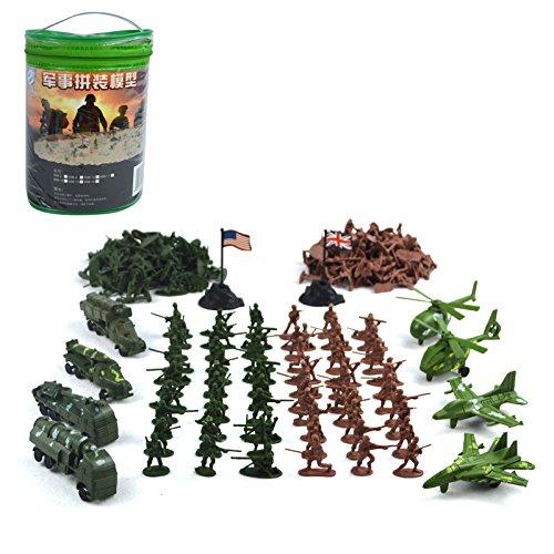 Sharplace 210 Stück Actionfiguren Armee Militär Modell für Kinder Lernspielzeug (Militär Figuren)
