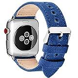 Fullmosa Compatible avec Bracelet Apple Watch 38mm 40mm en Tissu, 8 Couleurs Canvas...