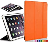 Forefront Cases® Apple iPad Air (1st Generation 2013) Hülle Schutzhülle Tasche Bumper Folio Smart Case Cover Stand - Ultra Dünn Leicht mit Rundum-Geräteschutz und intelligente Auto Schlaf / Wach Funktion (ORANGE)