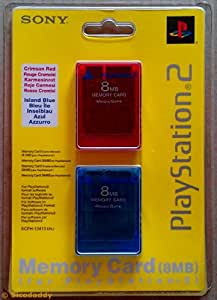 Sony 8 MB Memory Card 2-Pack (PS2)