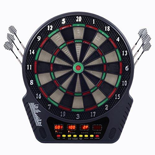 Elektronische Dartscheibe LED Dartboard Dartspiel mit Dartpfeil