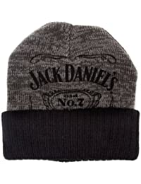 Jack Daniels Classic Black Logo Official Grey Knitted Beanie Hat