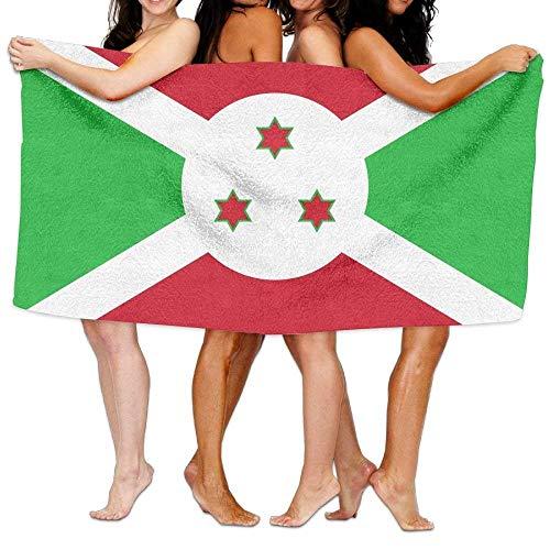 """Uosliks Strandtuch-Flagge von Burundi 80\""""x 130\"""" weiches leichtes saugfähiges Mittel für Bad-Swimmingpool-Yoga-Pilates-Picknick-Decken-Handtücher"""
