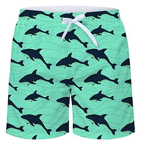 fc08e72448 TUONROAD Swimming Trunks for Men 3D Printed Cool Shark Pattern Board Shorts  Quick Drying Hawaiian Swimwear