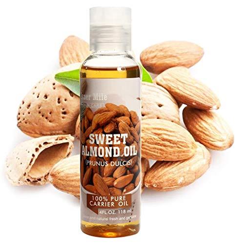 Ätherische Öle 118ml, huichang Aromatherapie Duftöl, 100% Pur (Süßmandelöl) - Massage-kerze Feuchtigkeitscreme