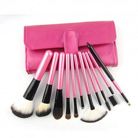 Kit 11 Pinceaux Maquillage Poils naturels