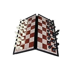 Scacchiera magnetica da viaggio per auto treno aereo scacchi magnetici calamitati gioco in confezione pieghevole e portatile 36x36 cm 59862 E26