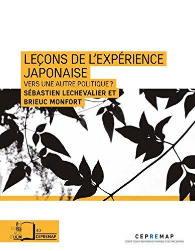 Leçons de l'expérience japonaise :...