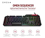 OMEN by HP Sequencer Gaming Tastatur (Individuell programmierbare Beleuchtung, optomechanische Blue-Switches, QWERTZ Keyboard Layout, N-Key-Rollover, 100 % Anti-Ghosting, USB) Schwarz