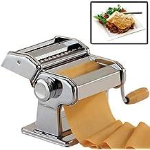 Top Home Solutions 3en 1Profesional Resistente de acero inoxidable de pasta fresca lasaña espagueti Tagliatelle cortador de máquina eléctrica