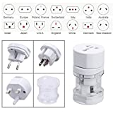 #10: Sky Tech® International Travel Plug Adapter Networking Interface Set Travel Plug Adapter Set Universal Worldwide International Charger Multi-Socket Outlet Travel Adapter Adaptor Plug (+150 Countries)