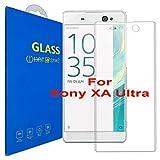Sony Xperia XA Ultra ( 6 pouces ) 3D Incurvé Verre Trempé Transparent 3D Film Protection en Verre trempé écran Protecteur Vitre - Ultra Résistant Dureté 9H 0.26mm Glass Screen Protector pour Sony Xperia XA Ultra (6 pouces) / XA Ultra Dual (6 pouces) (Clear)