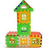 Welecom - Bloques de edificios para casa con letras, 24 piezas