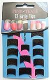 Rose Tease Nail Foils Lot de 13Pointe pour embouts–Noir Pailleté