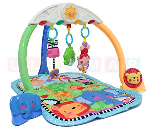 Erlebnisdecke Baby ZOO mit Ton und Licht - Matte für Baby - Activity Gym - Spieldecke mit Spielbogen und Spielzeug - Krabbeldecke - Baby Gym - Spiel-Matte (Baby Gym-spiel-matte)