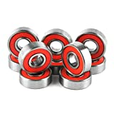Skateboard wheel bearings,Rasse® ABEC-9 Wheel Bearings For Skateboard Deck Longboard,10 Pcs Per Set, Skateboard Parts
