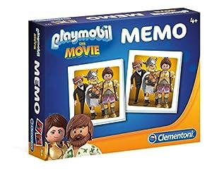 Clementoni 18067 Clementoni-18067-Memo - Playmobil Compacto The Movie, Juguete de Aprendizaje, Multicolor