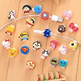 [10 Pack] iPhone Cable Protector Charger Saver Cable Chewers Cable Cute Cartoon Character Cable Accessory